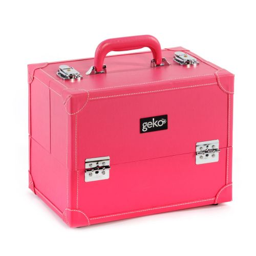 Vanity Case / Makeup Box Box Pink Faux Leather